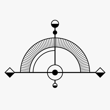 occultism: Abstract geometric symbol. Sacred geometry sign. Concept of imagination, magic, alchemy, religion, philosophy, spirituality, occultism, creativity.