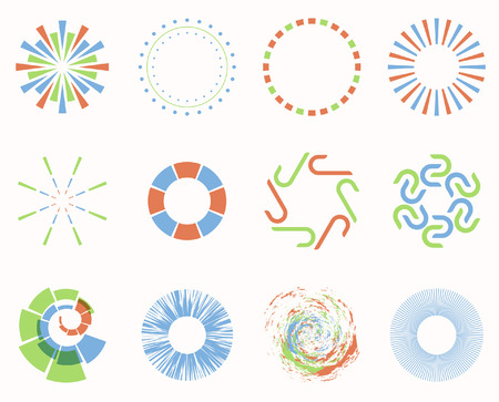 Abstract geometric shapes, symbols for your design