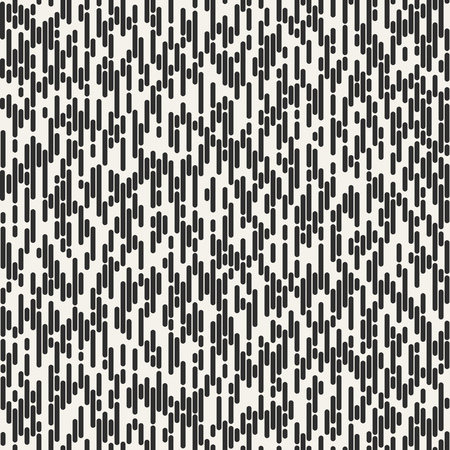 Abstract seamless pattern. Irregular Rounded Lines. Halftone transition. Monochrome geometric texture.