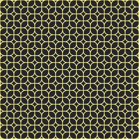 Abstract seamless geometric pattern. Regular tiled ornament of rounder squares. Stylish texture. Vector background.