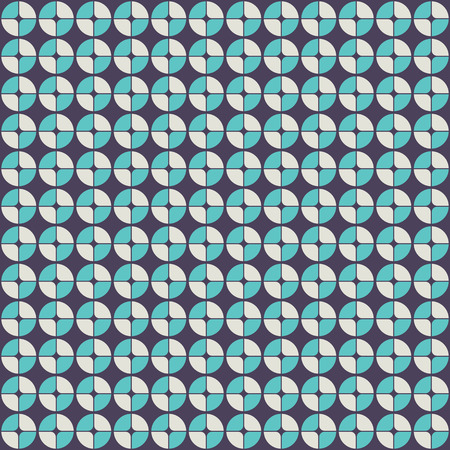 rounded circular: Abstract geometric pattern in retro style. Illustration