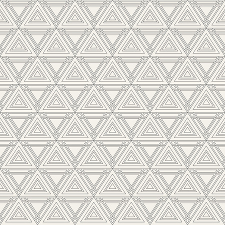 Abstract geometric pattern of triangles with diamonds at the corners. Modern stylish texture. Fashion design. Linear style. Symmetric composition of triangles. Vector background.