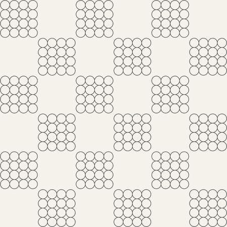 checker: Abstract seamless pattern.Groups of circles. Modern stylish texture. Vector background.
