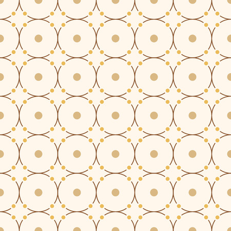 Abstract seamless minimalistic pattern. Repeating ornament of circles with big and small dots. Modern stylish texture. Contemporary graphic design. Geometric color vector background. Ilustrace