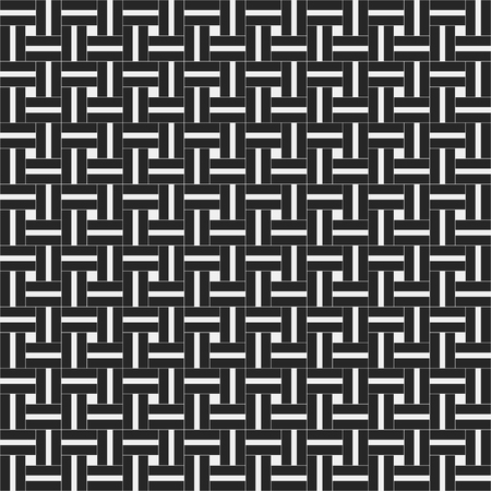 repeated: Squared seamless pattern with symmetric geometric ornament. Abstract repeated stylized squares wallpaper. Monochrome Illustration