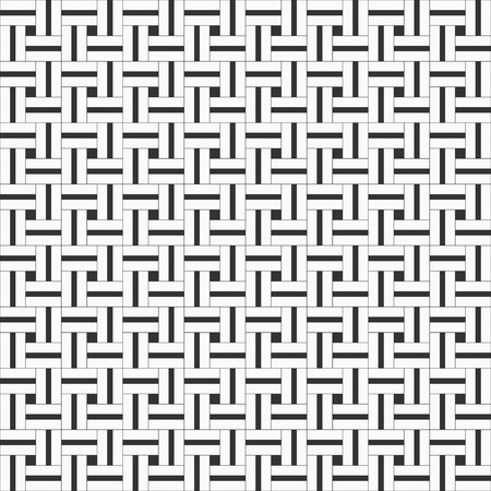 repeated: Squared seamless pattern with symmetric geometric ornament. Abstract repeated stylized squares wallpaper. Monochrome vector background.