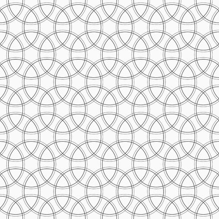 hole: Geometric abstract seamless pattern. Monochrome background with intersecting circles for your design.