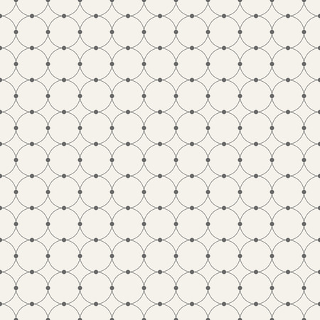 hole: Abstract seamless pattern. Circles connected with dots. Monochrome retro texture. Modern stylish texture. Repeating vector background. Illustration