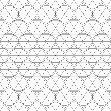 Abstract seamless pattern made from linear triangles. Contemporary graphic design. Monochrome vector background. Ilustrace