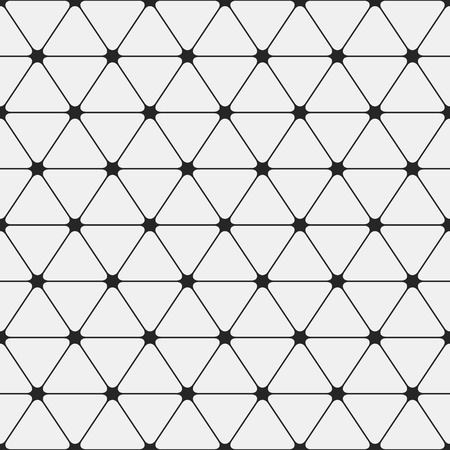 Abstract seamless pattern. Triangles with rounded corners. Vector monochrome background. Illustration