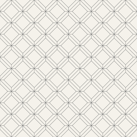 Vector seamless pattern. Regularly repeating geometric tiles of rhombuses. Linear style. Abstract geometric background. Modern linear texture with thin lines. Ilustração