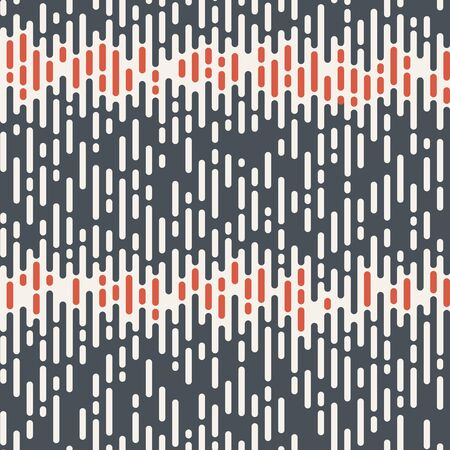 Abstract seamless pattern. Irregular rounded lines. Halftone transition. Color geometric texture. Vector background. Illustration