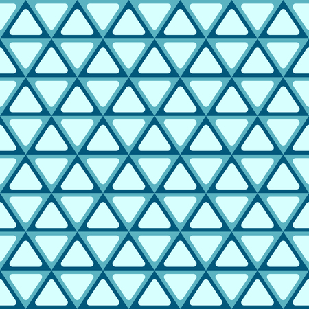 Seamless abstract geometric pattern with triangles. Symmetry arranged triangles with rounded corners. Illustration
