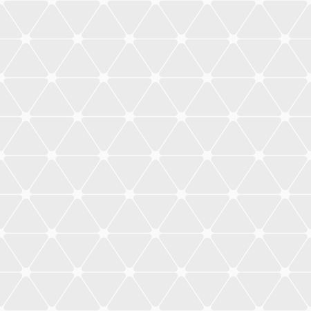 Abstract seamless pattern of triangles with rounded corners. White and gray geometric texture. Flat design. Vector background.