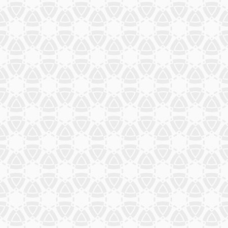 Abstract seamless pattern. Stylish geometric ornament. Vector background for wrapping paper, wallpaper, fabrics, interior design, greeting cards, posters and banners. White and gray geometric texture. Illustration