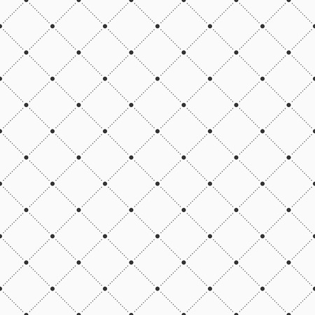 Vector seamless pattern. Geometric background with dotted rhombuses. Dots connected with dotted lines. Modern stylish texture. Repeating geometric tiles.  イラスト・ベクター素材