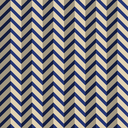 Abstract seamless fashion geometric pattern. Zigzag color lines. Colorful chevron stylized pattern with shadow effect. Herringbone pattern. Vector background.