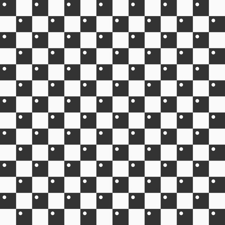 Seamless minimalistic pattern. Repeating geometric tiles with dots inside. Modern stylish texture. Contemporary graphic design. Vector geometric checkered background.