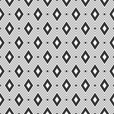 Vector seamless pattern. Geometric background with rhombuses. Dots connected with lines. Modern stylish texture. Repeating geometric tiles.