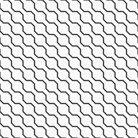 Abstract seamless pattern. Diagonal zigzag lines background. Jagged stripes motif. Regularly repeating geometric shapes. Diagonal arrangement. Vector monochrome background.