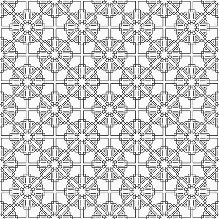 Oriental seamless pattern. Modern stylish texture. Linear style. Islamic style. Geometric lattice ornament. Vector monochrome background. Illustration