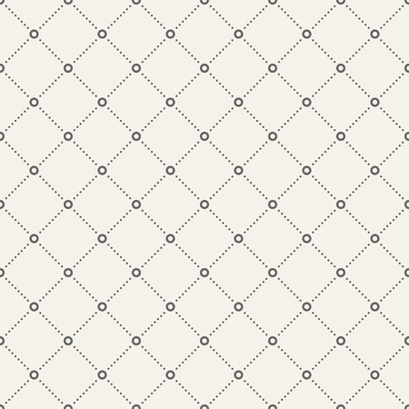 Abstract seamless pattern of circles and dots. Modern stylish texture. Dotted lines. Repeating geometric tiles with dotted rhombuses. Vector background.
