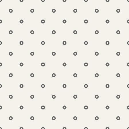 Vector seamless pattern of symmetrically arranged circles. Polka dot seamless pattern. Simple minimalistic graphic print.