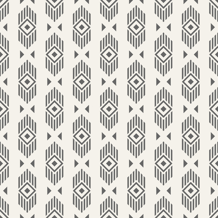 Abstract ethnic geometric pattern. Regularly repeating lines, rhombuses and triangles. Tribal decorative pattern. Vector background. Ilustrace