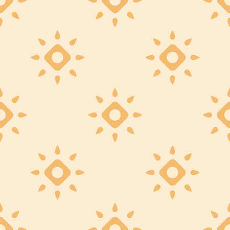 Abstract seamless geometric pattern. Stylized suns. Flat design. Vector background. Ilustrace