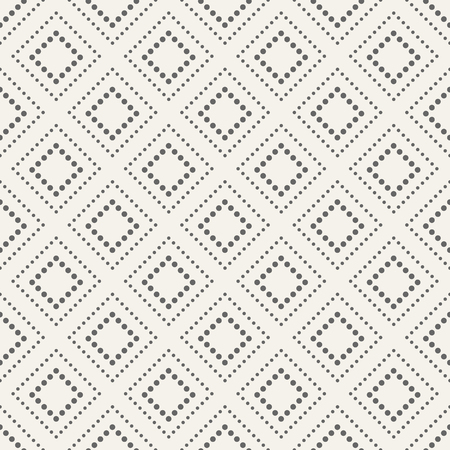 Abstract seamless pattern. Modern stylish texture. Repeating geometric tiles of dotted rhombuses. Simple minimalistic vector background.