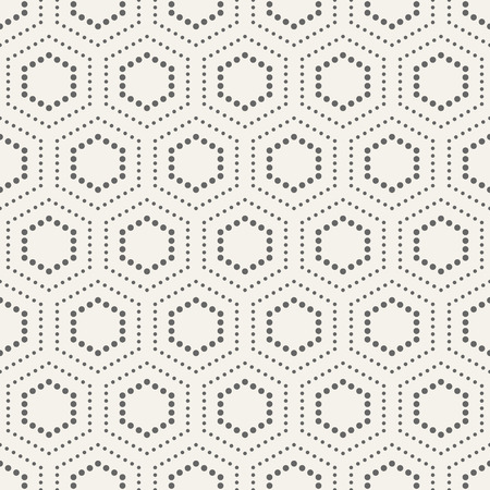 Abstract seamless pattern. Modern stylish texture. Repeating geometric tiles with dotted hexagons. Simple minimalistic vector background.