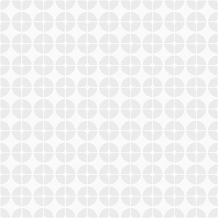 Abstract geometric pattern. Modern stylish circle texture. Circles, divided into four parts. Fashion style, trendy fabric, layout for design. White and gray geometric texture. Vector background.
