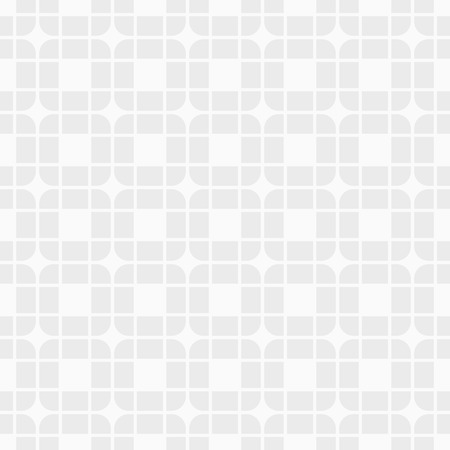 Abstract geometric seamless pattern of rounded tiles. Modern stylish texture. White and grey geometric texture. Contemporary graphic design. Vector background.