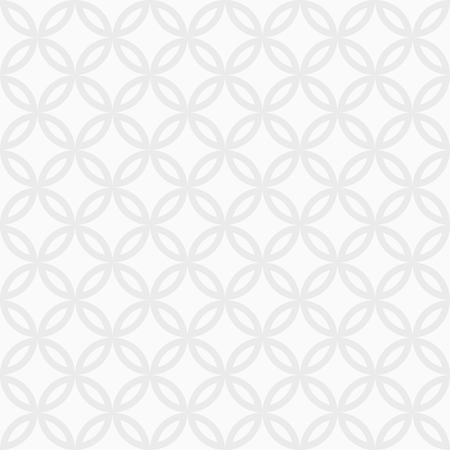 Abstract seamless ornamental quatrefoil pattern. Modern stylish texture with regularly repeating geometrical shapes. White and gray texture. Vector background. Illustration