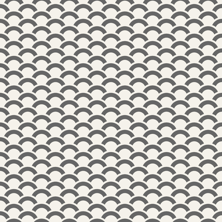 Abstract seamless pattern of bold arcs. Modern stylish texture. Wave pattern. Minimalistic graphic print. Vector background.