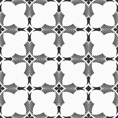 Abstract seamless pattern. Modern stylish texture. Repeating geometric ornament. Design for decor, prints, textile, furniture, cloth, digital. Vector background.