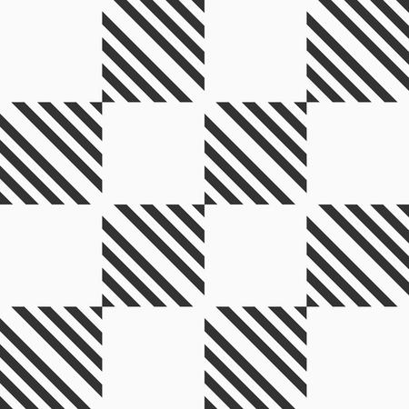 Abstract seamless pattern of striped squares. Modern stylish geometrical texture. Vector checkered background. Vektoros illusztráció