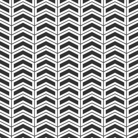 Abstract seamless pattern. Rhythmic structure of herringbone. Monochrome stylish texture with chevron. Linear style. Vector geometric background.