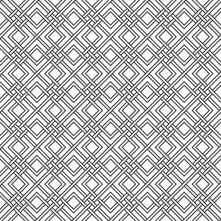 Modèle sans couture géométrique abstrait. Texture répétitive élégante. Fond de tressage de treillis de rayures entrecroisées. Fond monochrome de vecteur.