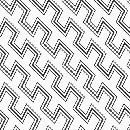 Vector monochrome seamless pattern with zig zag lines. Diagonal arrangement. Geometric lattice. Modern stylish texture. Repeating geometric shapes. Vektoros illusztráció
