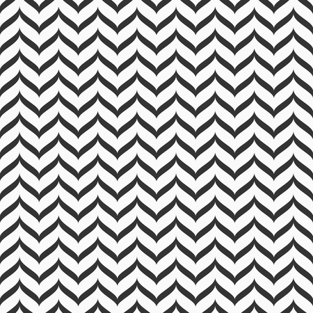 Abstract seamless pattern of ziigzag wavy stripes. Regular repeating texture. Modern stylish texture. Lattice motif. Geometric vector monochrome background. Vector Illustration