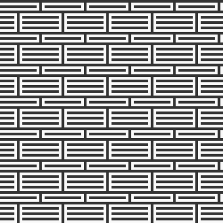 Abstract seamless pattern. Stripes lattice. Modern stylish texture. Monochrome trellis. Geometric ornament grid. Regularly repeated horizontal and vertical straight lines. Vector background.