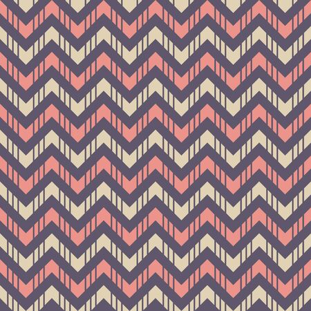 Abstract seamless pattern of striped zigzag lines. Fashion zigzag pattern. Arrows. Rhythmic structure of herringbone. Color stylish texture. Vector geometric background.
