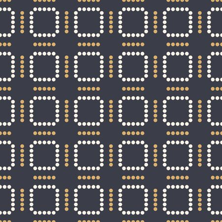 Abstract seamless pattern. Modern stylish texture. Repeating geometric tiles of dotted squares. Simple color vector background. Vector Illustration