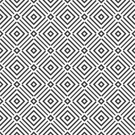 Modèle sans couture de losanges abstraits. Texture élégante moderne. Ornement géométrique répétitif régulièrement. Papier numérique, web, impression textile, emballage, papier peint. Fond monochrome de vecteur.