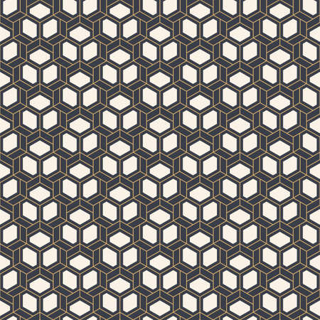 Abstract seamless pattern. Modern stylish texture. Striped linear geometric tiles with triple weaving elements. Vector color background.