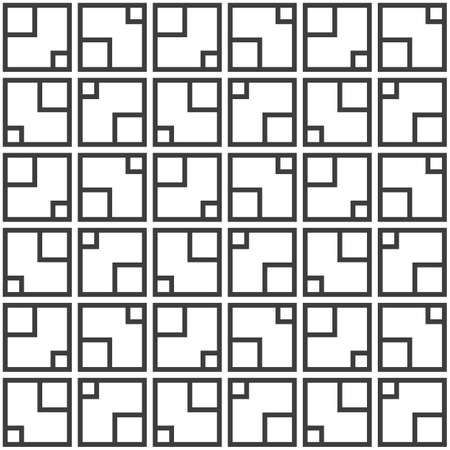 Abstract seamless pattern. Repeating geometric square tiles. Mesh texture. Modern stylish texture. Geometric lattice. Vector monochrome background. 向量圖像