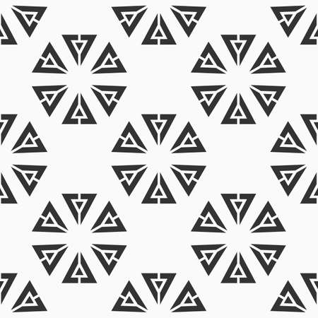 Abstract seamless triangles pattern. Repeating geometric shapes. Texture for wallpaper, packaging, invitations, business cards, fabric print. Vector monochrome background. Ilustración de vector