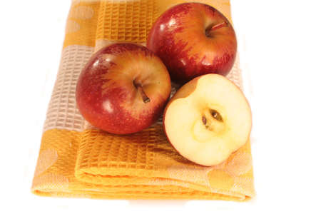 br: Isolated Apples On Cloth
