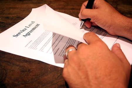levels: Ondertekening van een Service Level Agreement